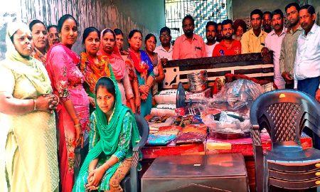 जरूरतमन्द परिवार की लड़की की शादी में दिया आर्थिक सहयोग