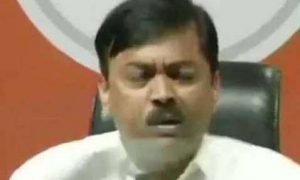 BJP general secretary and spokesman thrown at shoe