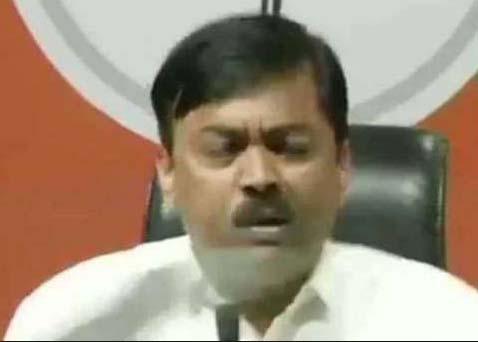 BJP general secretary and spokesman thrown at shoe