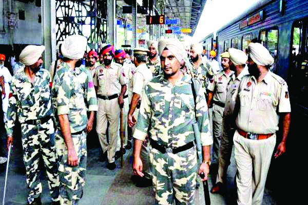 Military Base, railway station threatens to blow