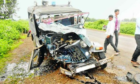 Road, Accident, Four, Killed