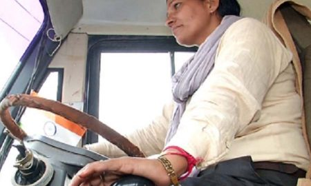 First woman bus driver awarded