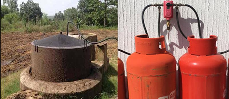 Gobar gas plant installed in Hissar's new village