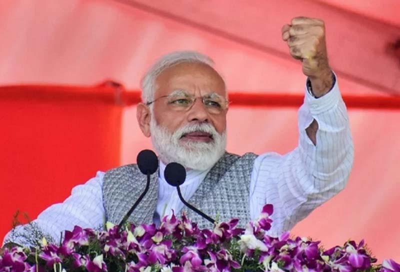 Modi gets majority from BJP