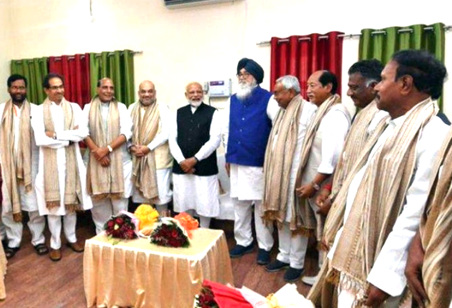 NDA MPs meet today Modi will be formally elected leader