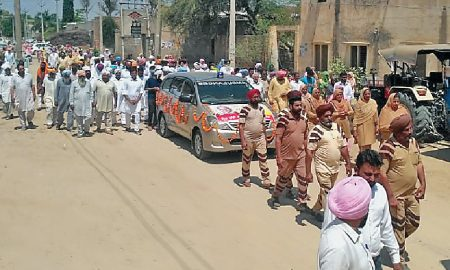 Ranjit Kaur donates the dead body