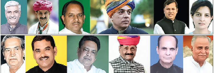 Several Congress leaders in Rajasthan lose elections