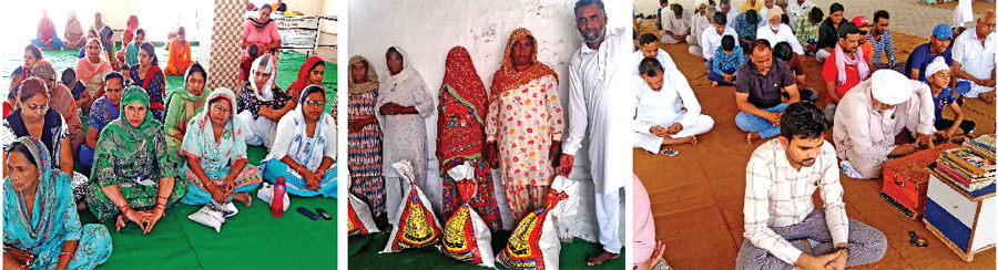 distributed ration to the needy