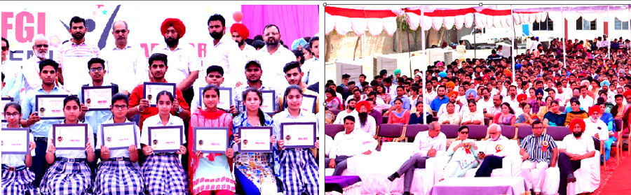 3000 students honoring over 80% marks in the 10th and 12th