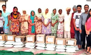 10 families with needy ration