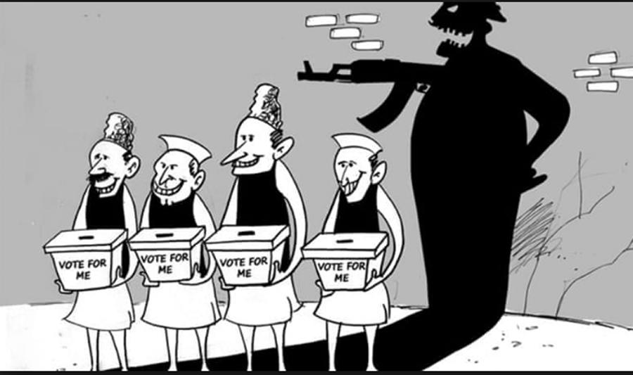 Attack on democracy with slap money