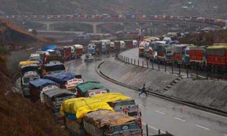 Kashmir highway closed for third day