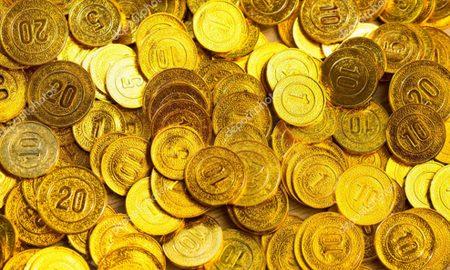 coins in excavation work