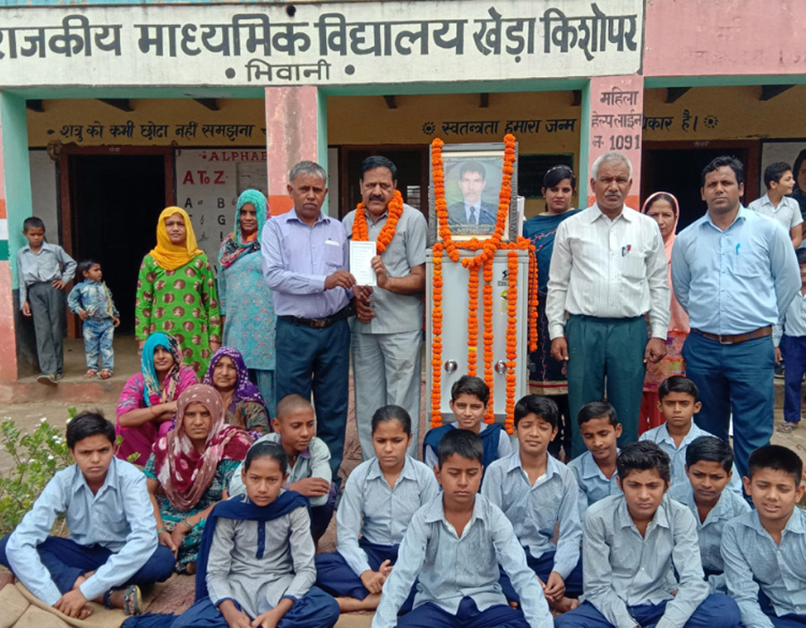 clean, cold water to get innocent in school