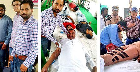 Dera devotees zealously donate blood