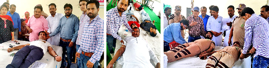 Dera devotees zealously donate blood