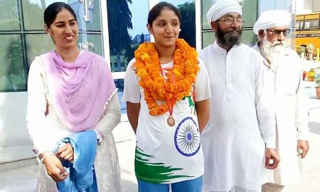 Bhajan Kaur hoisted the National School Games