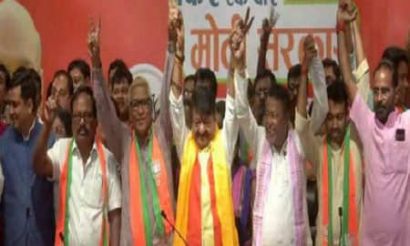 0 councilors including three MLAs included in BJP