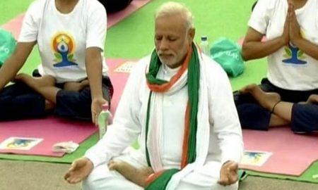 An integral part of yoga life: Modi