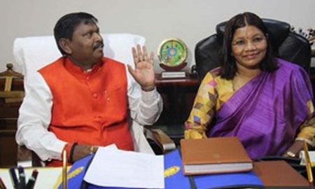 Arjun Munda and Renuka Singh took charge of the Ministry of Tribal Affairs