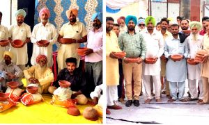 Block Mahal Kalan's Sadh Sangat shared 25 families with needy ration