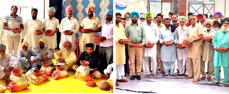 Block Mahal Kalan's Sadh Sangat shared 25 families with needy ration