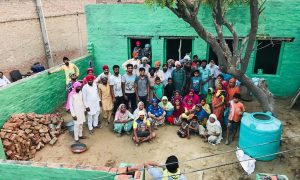Dera devotees set up a needy family