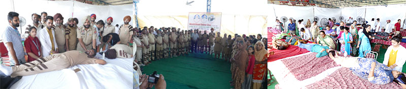 Reached teams of different hospitals collected 490 units of blood