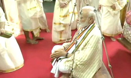 We have not even opened our account here and have come to show gratitude to the people these are our sacraments: Modi