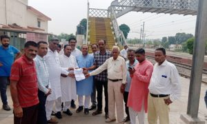Railway Board members visited Barrai railway station