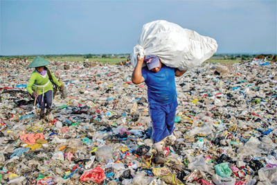 #Human lifestyle, #Plastic environmental crisis, Campaign to get rid of plastic waste