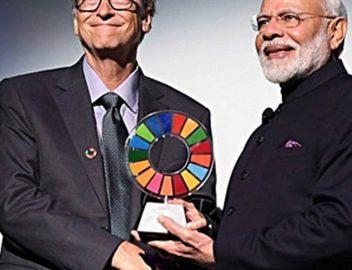 Modi honored with Global Goalkeeper Award