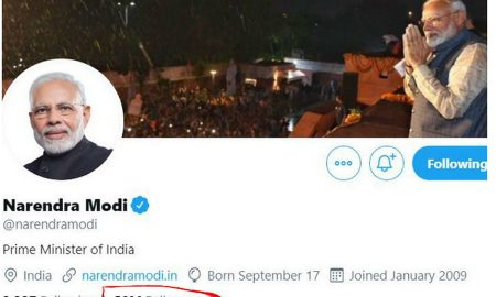 Twitter: Modi's 50 million followers he is the only Indian in the top-20; Obama at number one with 10.8 crores