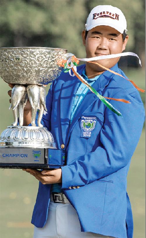 Golf: Kim of Korea wins Panasonic Open Shiv-Chika finished second