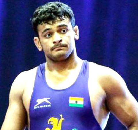 Indian wrestler Deepak Poonia