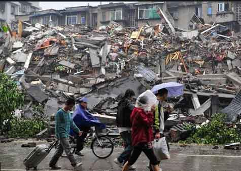 Nine people injured by earthquake in China