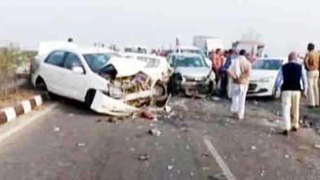 The fog has caused dozens of road accidents in the country.