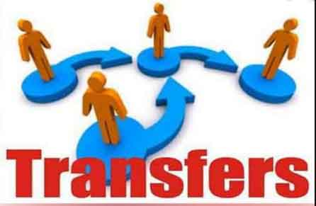 Transferred before assuming office
