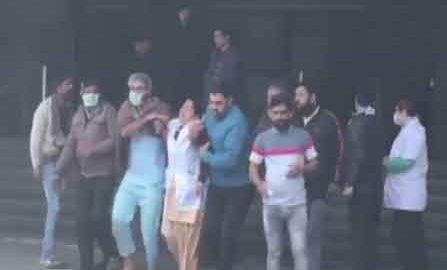 Fierce fire at ESI Hospital in Noida
