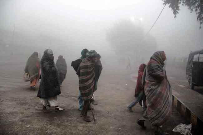 Road traffic affected in dense fog