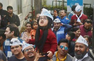 aap workers celebration 03 - Sach Kahoon news