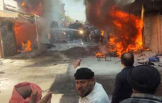 Fire in Jaipur's Indrabazar - Sach Kahoon News