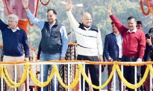 Kejriwal took oath