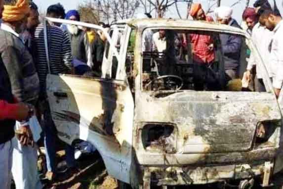 fire in school van in Punjab - Sach Kahoon