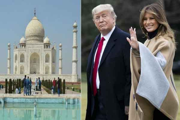 Trump arrived in Agra to see the beauty of Taj - Sach Kahoon News