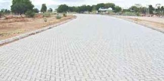 Foundation stone laid for paver road - sach kahoon