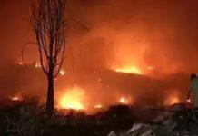 Fire in Slums