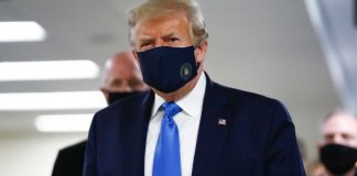 Donald Trump Wearing Mask