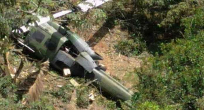 Military Helicopter Crashes in Colombia