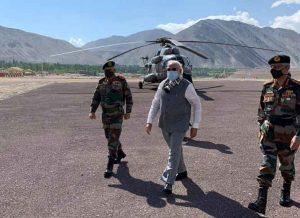 Narendra Modi Visited Ladakh